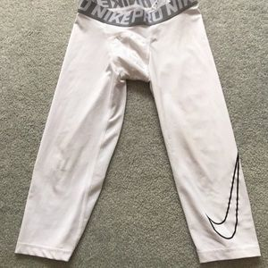Nike pro Dri-Fit white leggings large